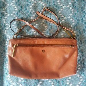 Vintage Brown Leather Elliot Lucca Crossbody Bag